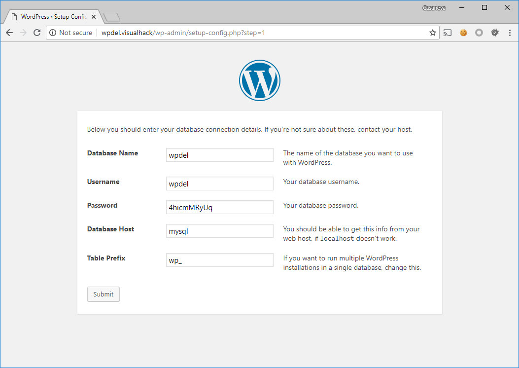 Инсталляция WordPress 4.9.6