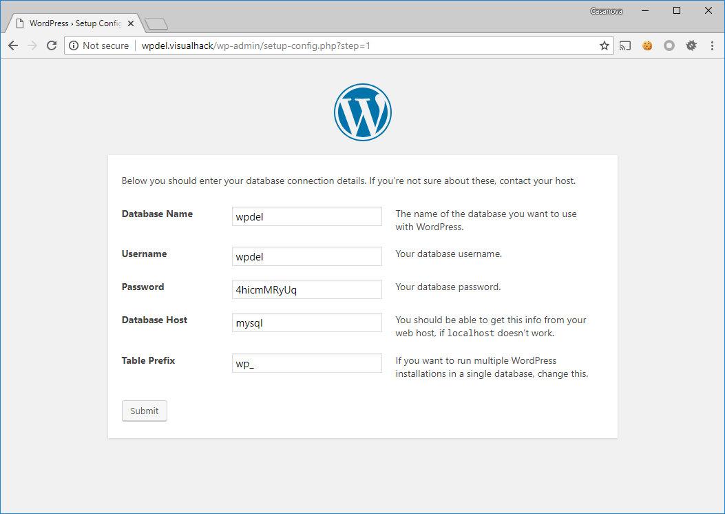 Инсталляция WordPress 4.9.6