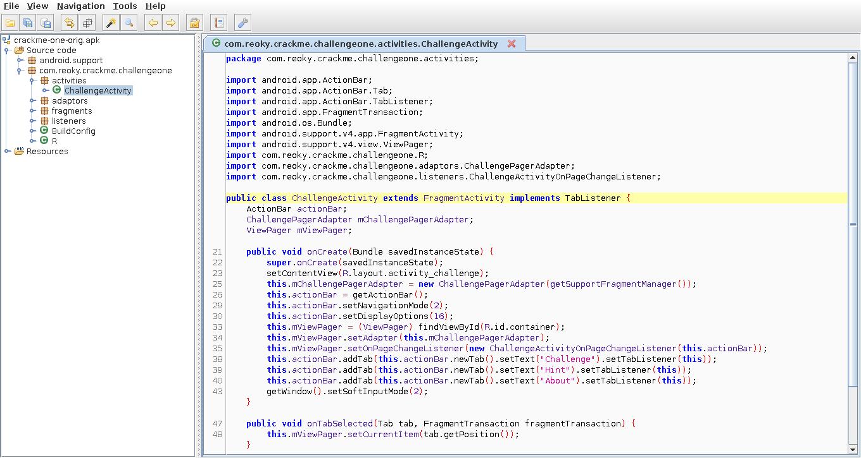 Декомпиляция приложения в Jadx