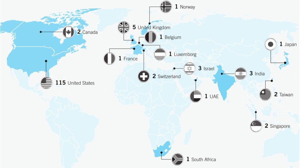 Активность APT1 по регионам, изображение: fireeye.com