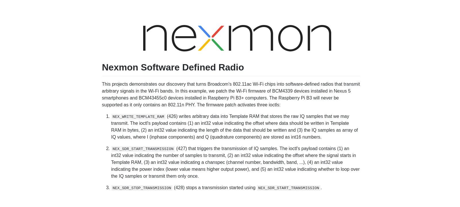 WWW: Nexmon SDR — программа для превращения Raspberry Pi в SDR - «Хакер»