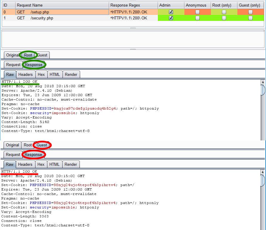 Детали проверки системы ролей плагином AuthMatrix. Возможная уязвимость!