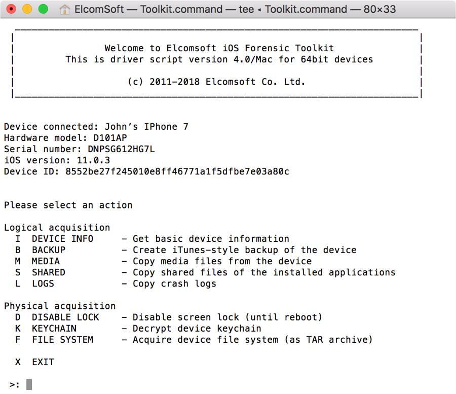 Примерно так выглядит интерфейс приложения, которое извлекает информацию из iPhone
