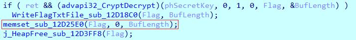 Перезапись буфера с расшифрованными данными