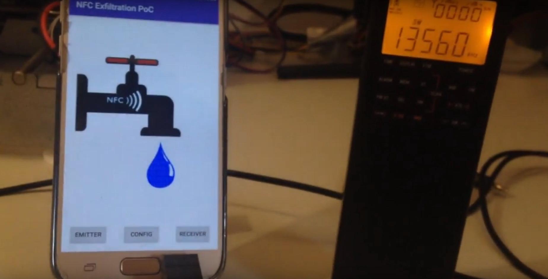Атака NFCdrip использует NFC для передачи данных на сравнительно дальние дистанции