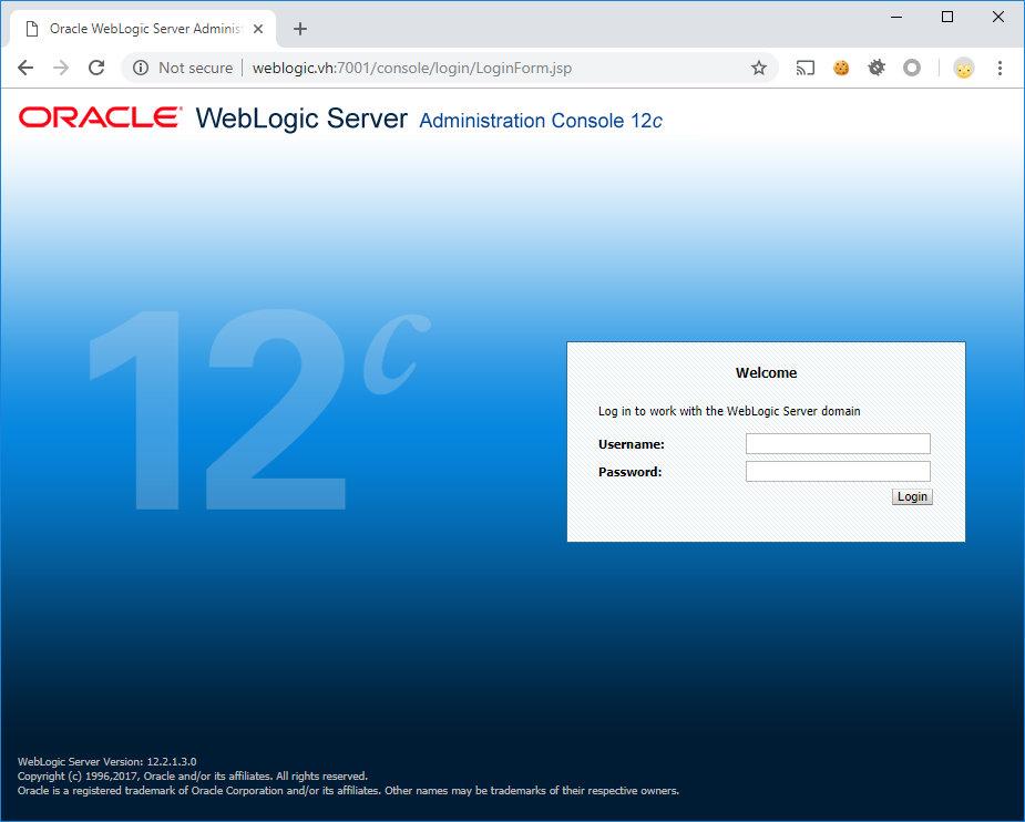 Готовый стенд WebLogic