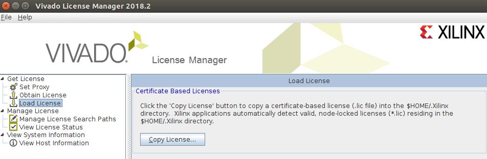 Скрин Vivado License Manager на данном этапе