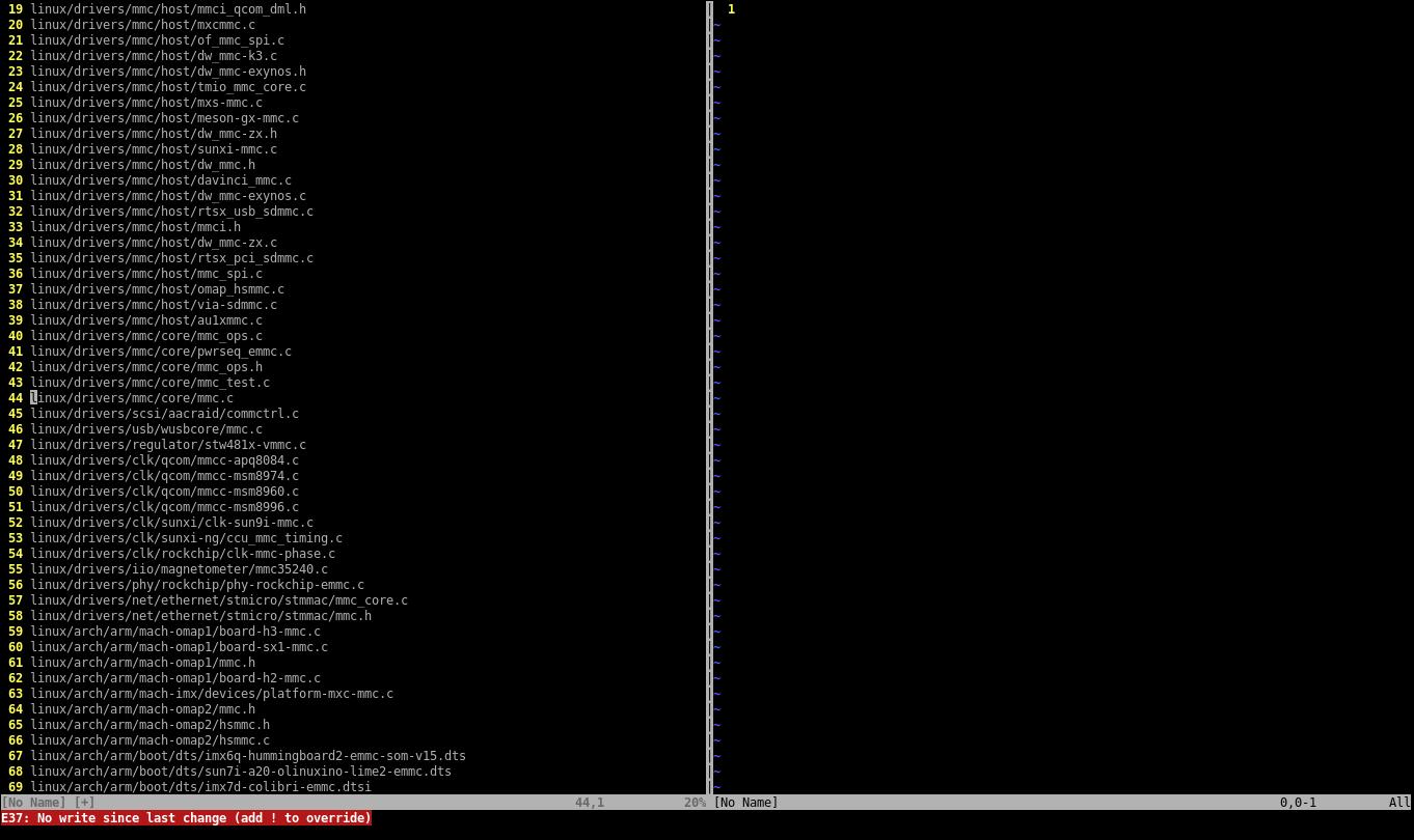 Изменения не сохранены — Vim не позволяет просто взять и отбросить файл