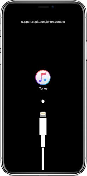 Экран восстановления iOS 12