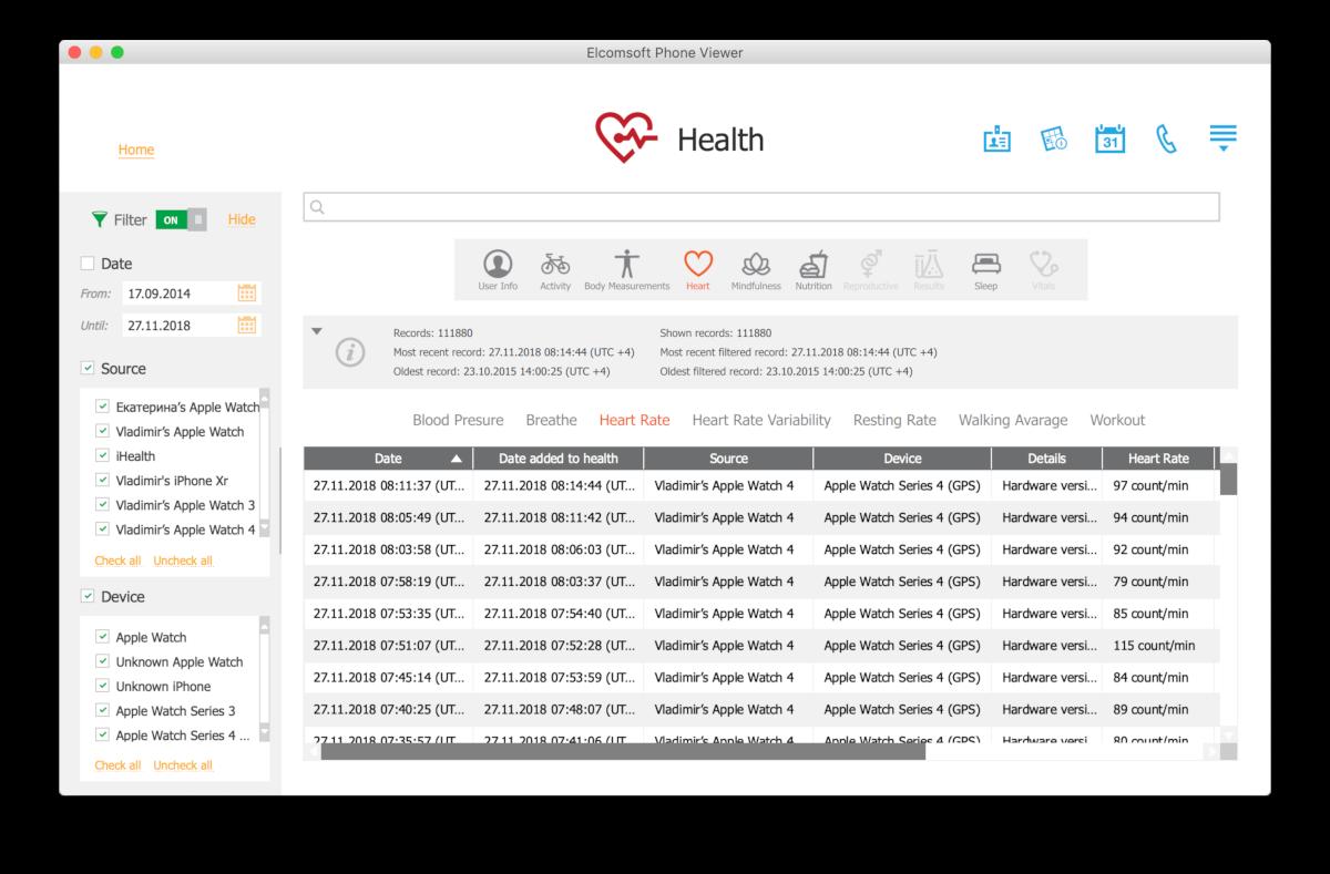 Какие данные собирают Apple Health и Google Fit