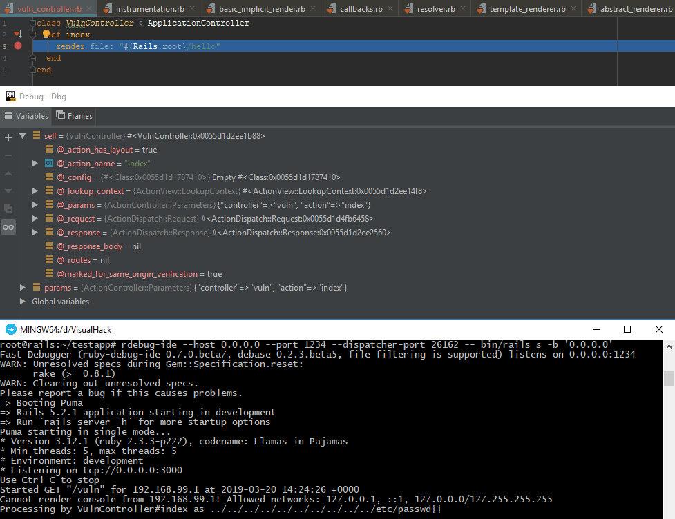 Удаленная отладка приложения на Rails с помощью RubyMine