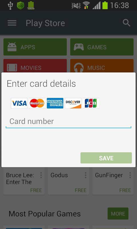Для хищения реквизитов банковских карт многие мобильные трои используют поддельные окна Google Play