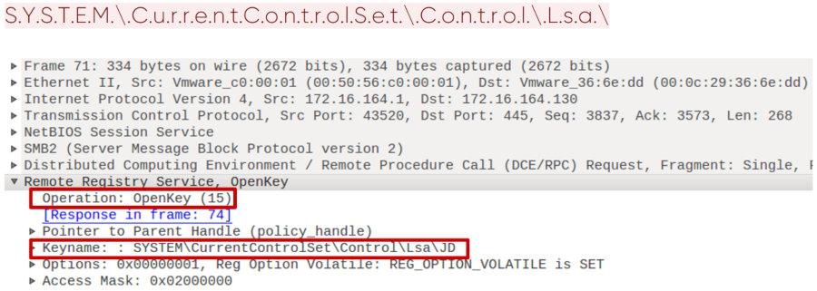 Открытие ключа реестра по протоколу winreg