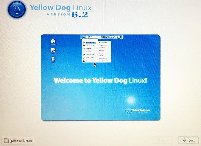 Так выглядит программа установки Yellow Dog Linux