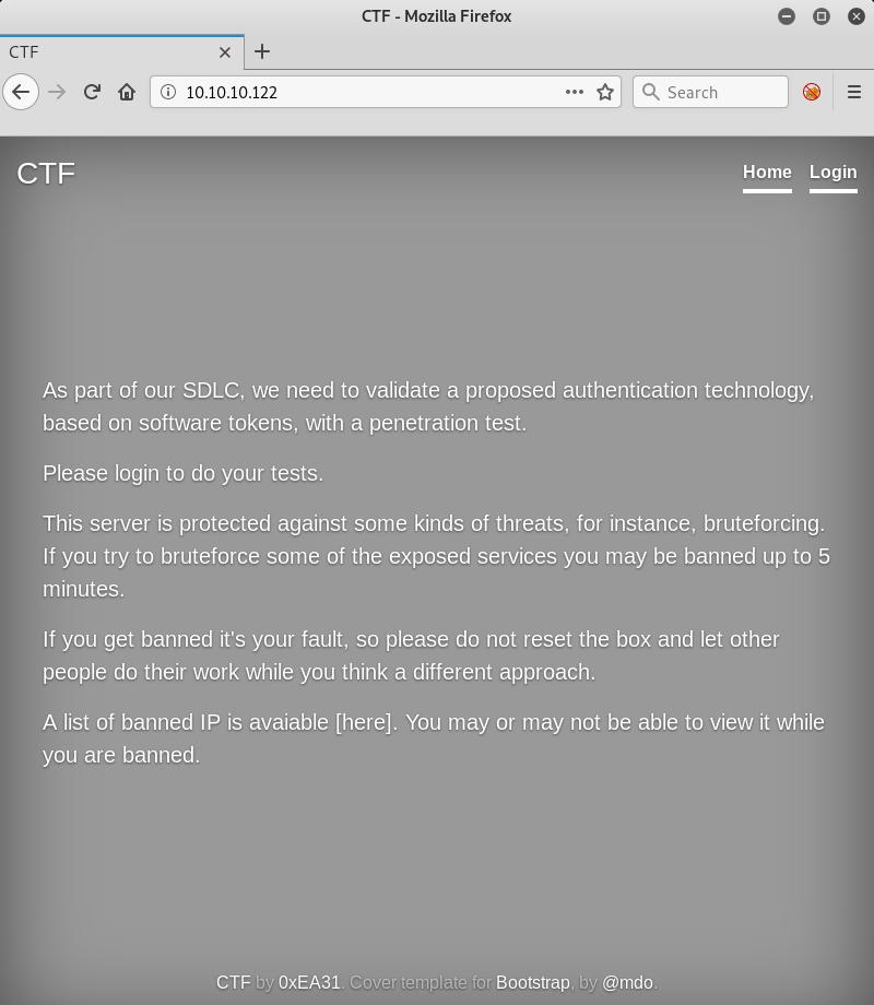 Главная страница веб-сервера