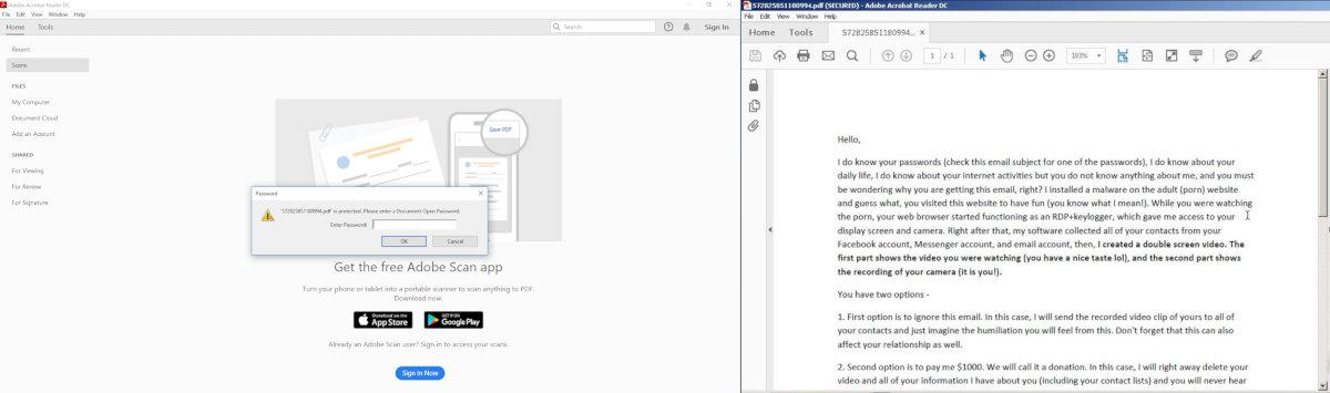 Запароленный PDF