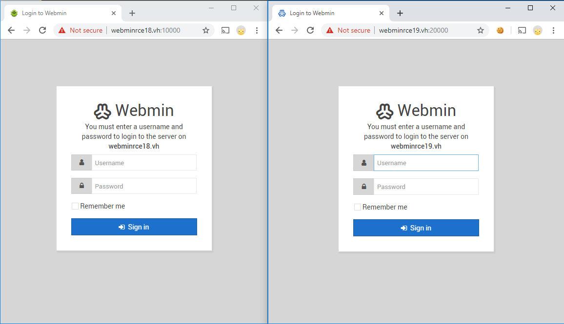 Готовые к эксплуатации стенды с Webmin