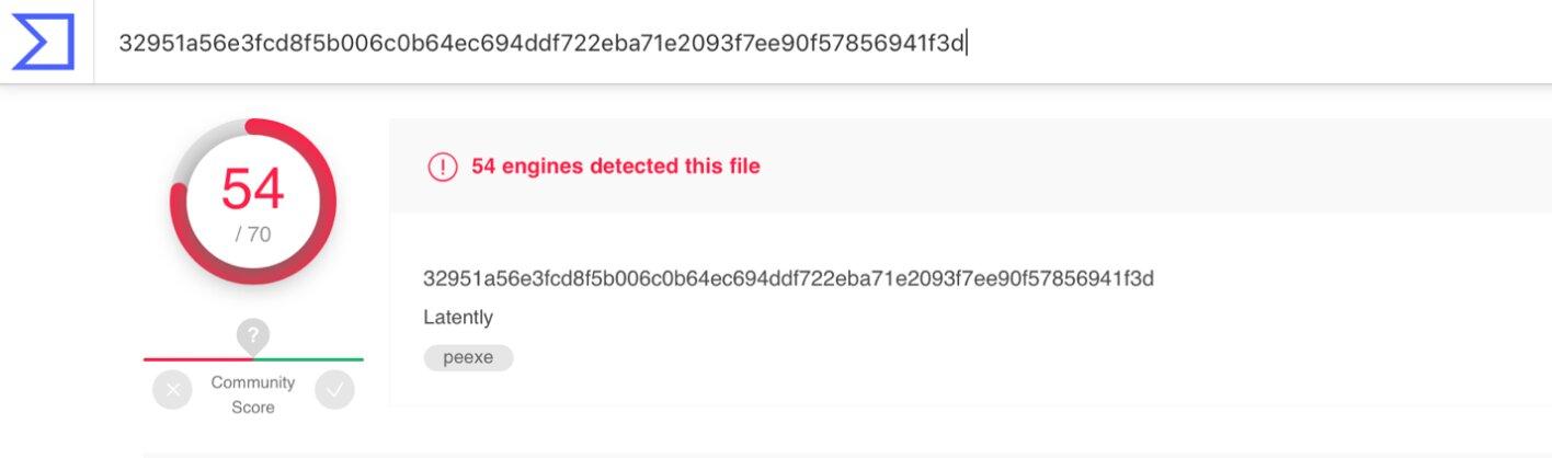 Проверка хеш-суммы на virustotal.com