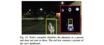 Эксперты обманули автопилот Tesla при помощи проектора за 300 долларов 7