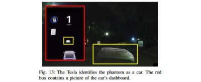 Эксперты обманули автопилот Tesla при помощи проектора за 300 долларов 6
