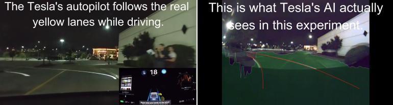 Эксперты обманули автопилот Tesla при помощи проектора за 300 долларов 8