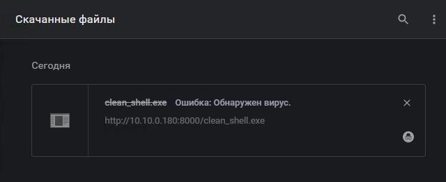 Очевидно, что файл заблокировал Google Chrome