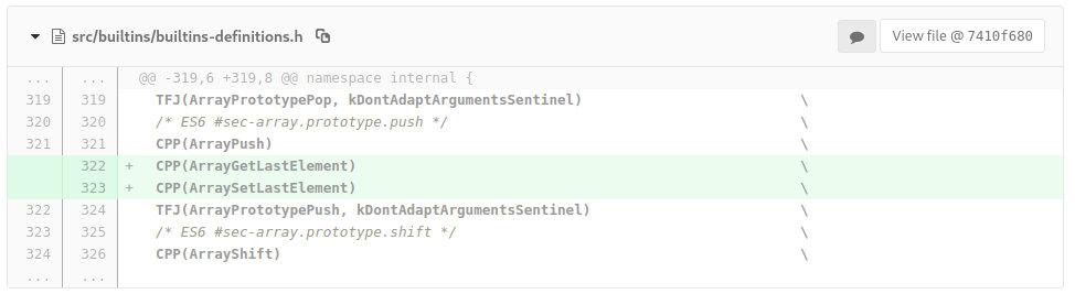 Изменения src/builtins/builtins-definitions.h