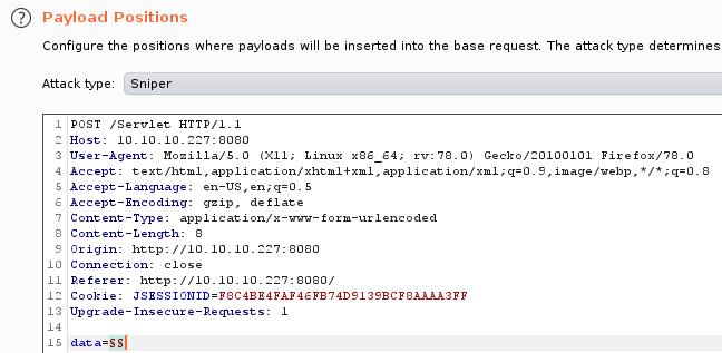 Вкладка Payload Position